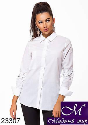 Белая рубашка женская (р. S, M, L, XL) арт. 23307, фото 2
