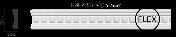 Молдинг для стен с орнаментом Classic Home HM-32038Q, лепной декор из полиуретана
