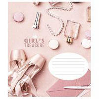 Зошит 24 аркуша лінія  girl's treasure  Скарби дівчат , фото 1