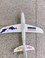Самолет-планер с красками