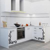 Белая кухня с узором МДФ крашеный