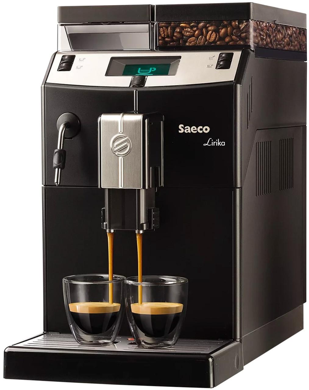 Автоматическая кофемашина Saeco Lirika Black (RI9840/01)