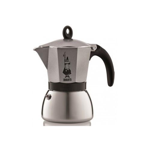 Гейзерная кофеварка Bialetti Moka Induction Grey (6 чашек - 360 мл)