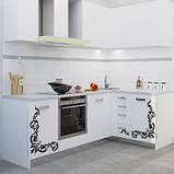 Ванильная кухня с узором МДФ крашеный, фото 2
