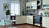 Ванильная кухня с узором МДФ крашеный, фото 4