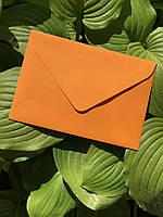 Подарочный конверт C5 из плотной крафт бумаги оранж