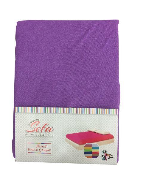 e204eded32d0 Махровая простынь на резинке с наволочками (фиолетовый) Турция - Домашний  текстиль оптом и в