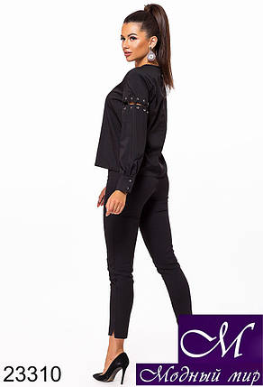 Женская стильная блуза (р. S, M, L, XL, XXL) арт. 23310, фото 2