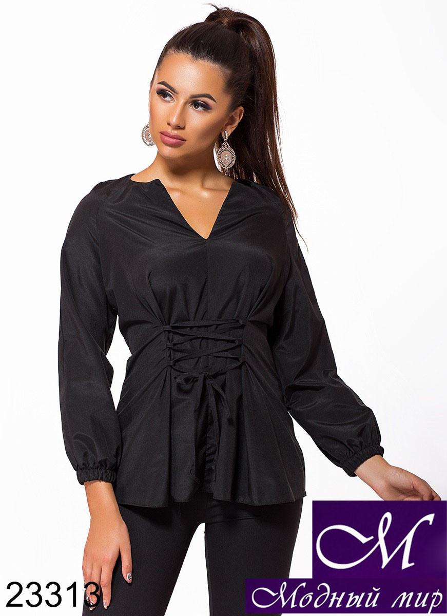 Женская блузка со шнуровкой (р. S, M, L, XL, XXL, 3XL) арт. 23313