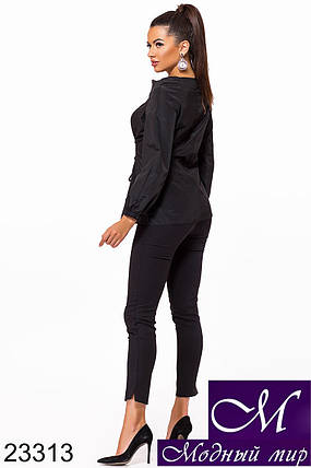 Женская блузка со шнуровкой (р. S, M, L, XL, XXL, 3XL) арт. 23313, фото 2