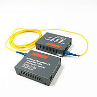 2x Медиаконвертер оптический Netlink HTB-3100AB, SC RJ45 10/100Мбит 25км