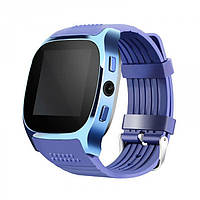 Сенсорные Smart Watch T8 смарт часы умные часы Синие