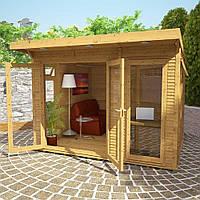 Садовая деревянная беседка 3,1х3,1 закрытая летняя от производителя Wood Gazebo 010