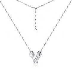Серебряное колье MAZZARINI JEWELRY с фианитовой вставкой Кл2Ф 3010, КОД: 300678