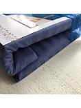 Двуспальный Комплект постельного белья ТМ KRIS-POL (Украина) Страйп-сатин темн. синий, фото 2