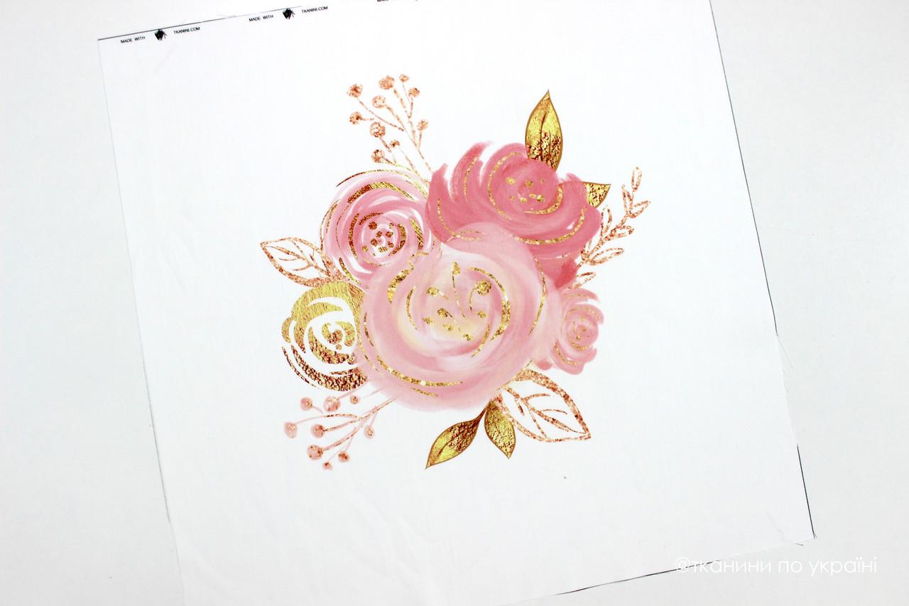 Панелька сатин Цветы 40*40 (балерина)