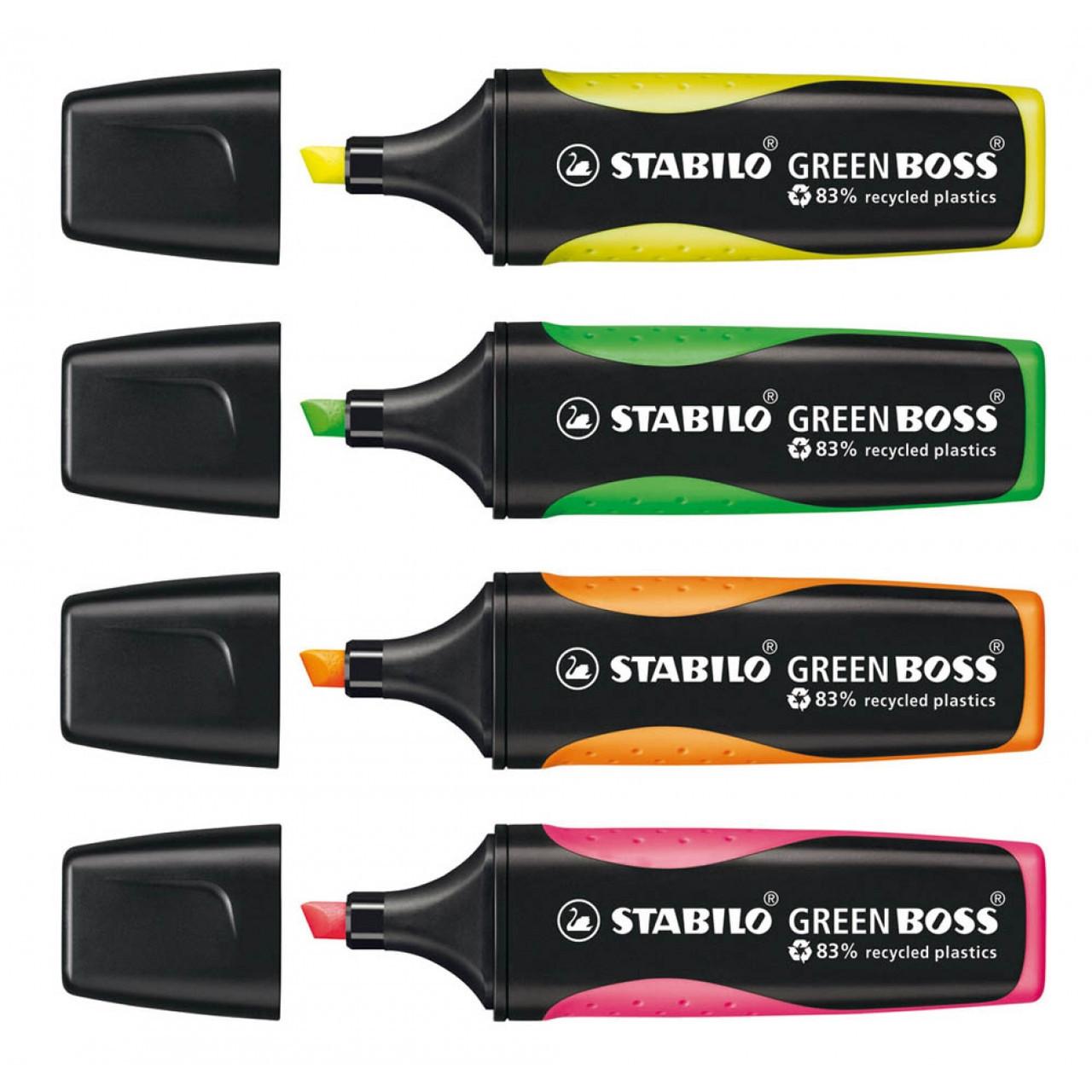 Набор маркеров текстовых 40 шт в дисп. боксе STABILO GREEN BOSS,в уп.микс цветов 6070/40-1