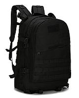 Городской тактический штурмовой военный рюкзак ForTactic 3D на 40 литров Черный