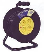 Удлинитель на катушке УК40 с термозащитой 4 места 2Р+PЕ/40метров 3х1,5мм2  ИЭК