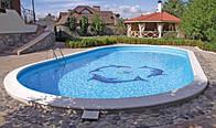 Композитный (из стеклопластика) бассейн Ницца 6,40х3,40м глубиной 1,5м