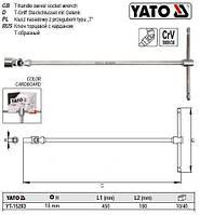 Ключ Т-подібний YATO з торцевою головкою М18 мм на кардані; 180 х 450 мм