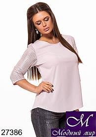 Женская блузка свободного кроя (р. S, M, L) арт. 27386