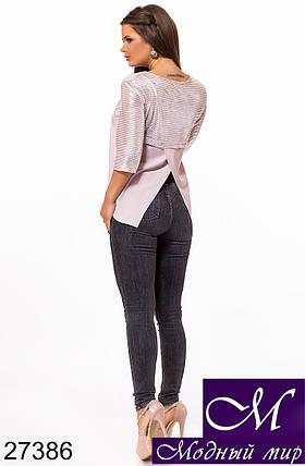 Женская блузка свободного кроя (р. S, M, L) арт. 27386, фото 2
