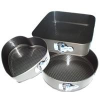Набор разъемных форм для выпечки (круглая,сердце ,квадратная) Галетте - 01277