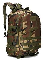Городской тактический штурмовой военный рюкзак ForTactic 3D на 40 литров Вудленд