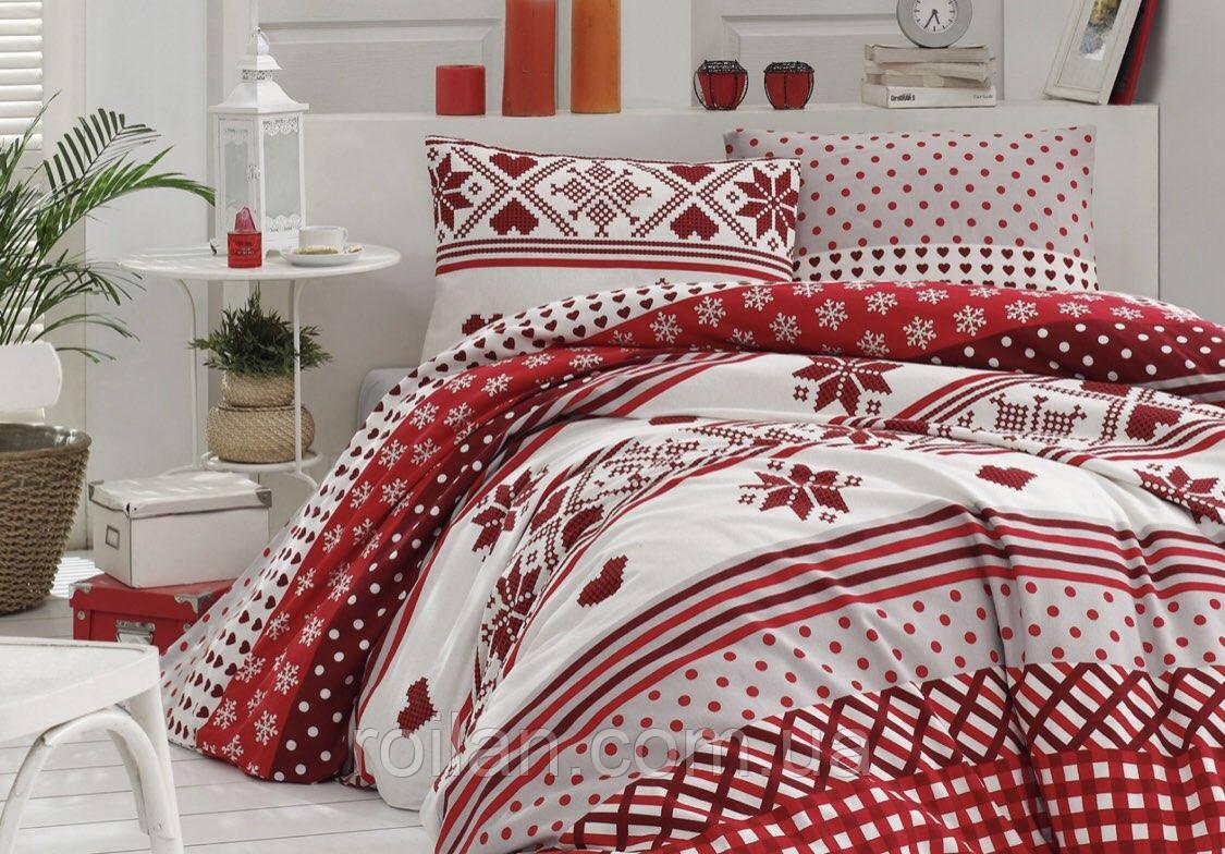 Новогоднее турецкое постельное белье