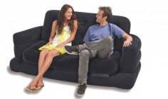 Надувной диван-трансформер 2в1 Intex 68566 Pull-out Chair