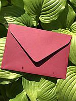 Подарочный конверт С5 из плотной крафт бумаги вишня