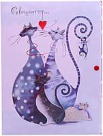 Папка на кнопке объемная Leo Sweet Dreams\Glamour cats А4 № 490832