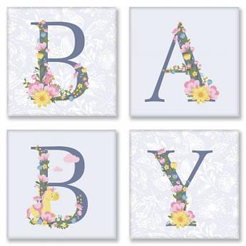 Картина по номерам BABY прованс 18*18 см*4 шт