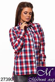 Красивая женская рубашка в клетку (р. S, M, L) арт. 27390