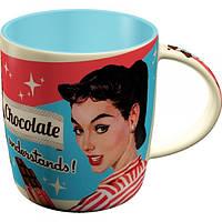 "Кружка ""Chocolate Doesn't Ask"" Nostalgic Art (43016)"