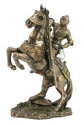 """Статуэтка """"Рыцарь на коне"""" из полистоуна с бронзовым напылением.Размер 27см. Veronese"""