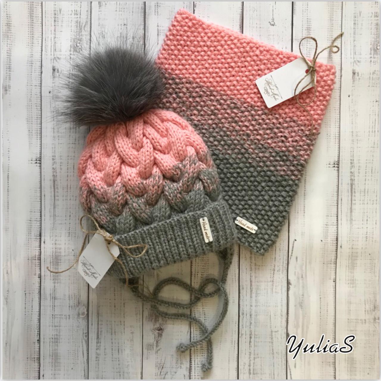 Зимняя шапка и снуд.
