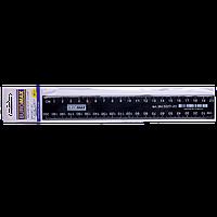 Линейка пластиковая 20см, черный, в блистере BM.5827-20 Buromax (импорт)