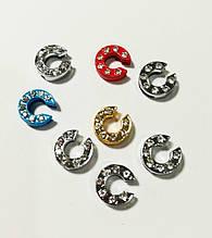 Буквы для наборных браслетов цветные, именной браслет, наборной силиконовый браслет C