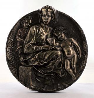Настольная статуэтка Марии с Иисусом из полистоуна,размер 22см. Veronese