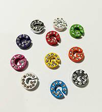 Буквы для наборных браслетов цветные, именной браслет, наборной силиконовый браслет G