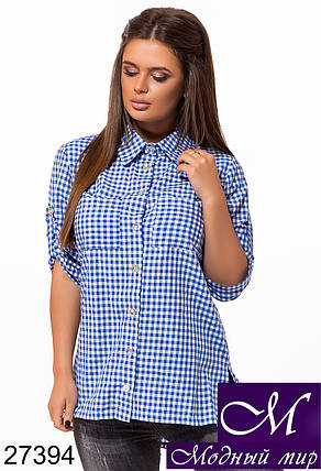 Модная женская рубашка в клетку (р. S, M, L) арт. 27394, фото 2
