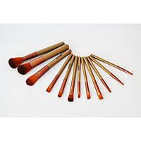 Кисти для макияжа Kylie 12 шт набор кистей кисточки 12 шт Золото (РК-46151)