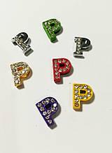 Буквы для наборных браслетов цветные, именной браслет, наборной силиконовый браслет P