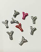 Буквы для наборных браслетов цветные, именной браслет, наборной силиконовый браслет Y