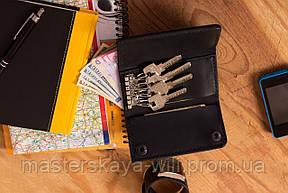 Кожаный кошелек ключница ручной работы, фото 2