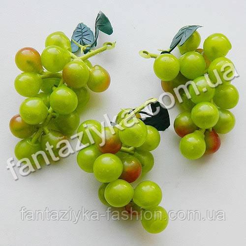 Искусственный виноград маленький круглый 6см, зеленый
