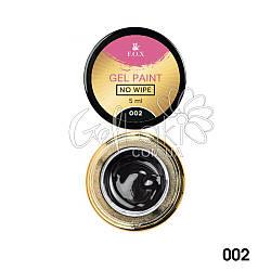 Гель-краска без липкого слоя Fox Gel paint No Wipe 002 (черная), 5 ml