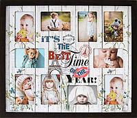 "Фоторамка коллаж ""Best time of the year"" 64х55 см"